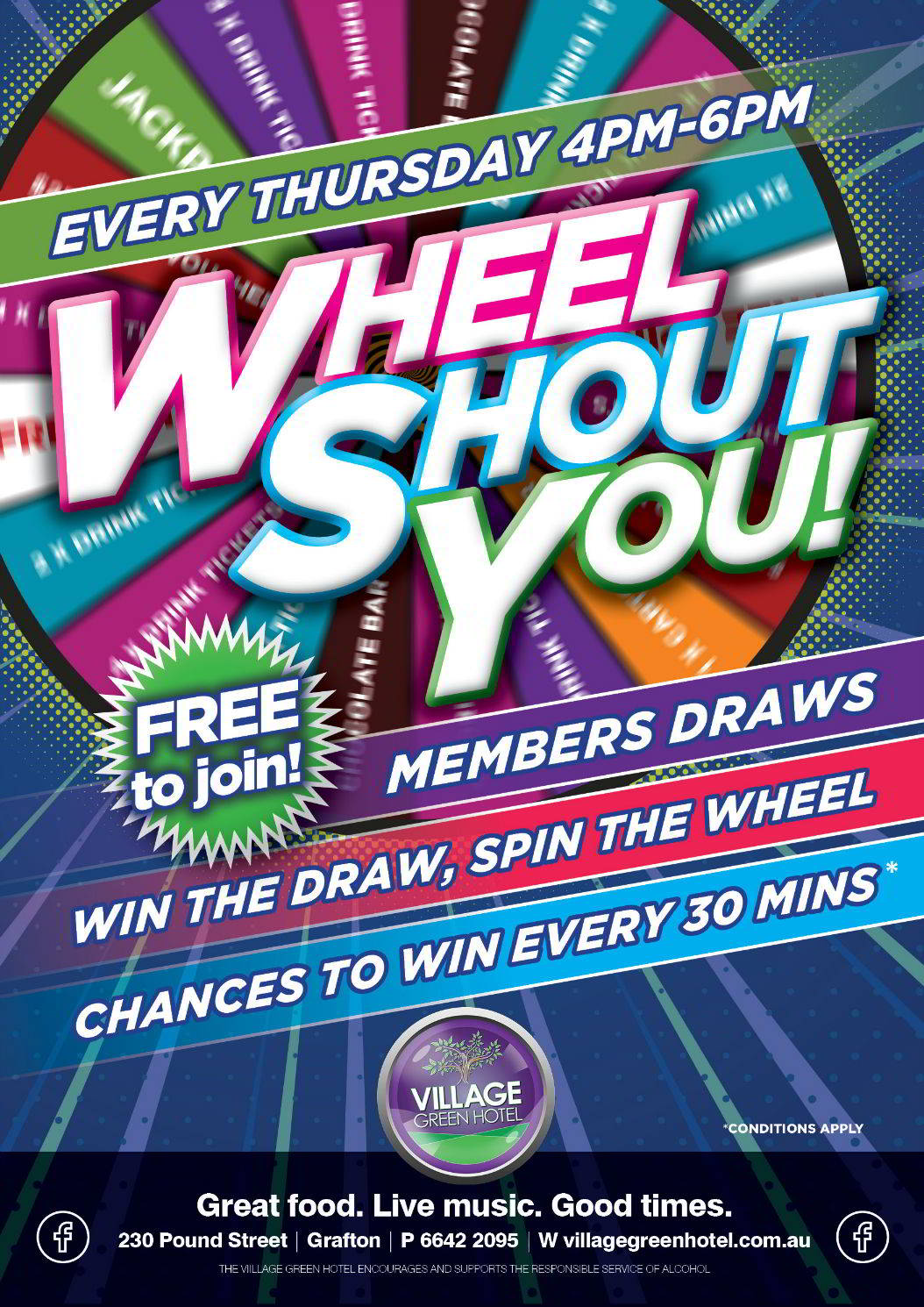 Wheel Shout You Thursday 4-6pm