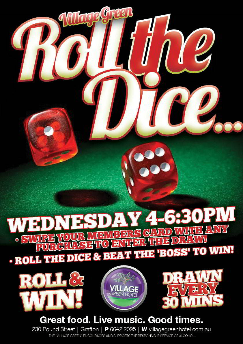 Roll The Dice every Wednesday 5-7pm